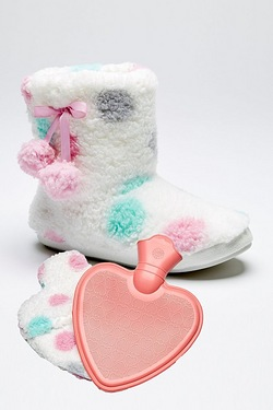 Fluffy Boot and Hot Water Bottle