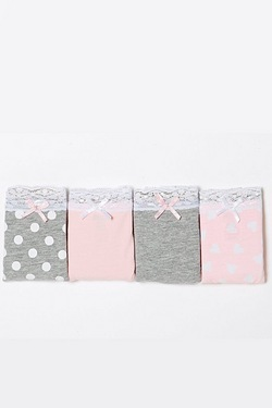 Girls Pack Of 4 Briefs
