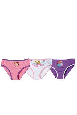 Girl's Pack Of 3 Character Briefs -...