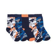 Boy's Pack Of 5 Socks - Camouflage