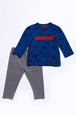 Baby Boy's 2-Piece Awesome Set