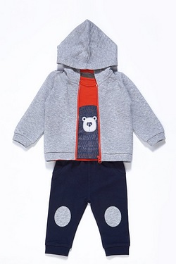Baby Boys 3 Piece Bear Set