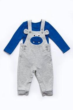 Baby Boy's Dungarees Set