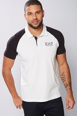 EA7 Colour Block Polo