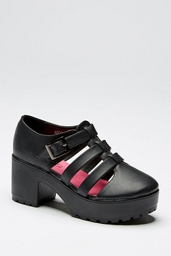 Girls Strappy Platform Heeled Shoe