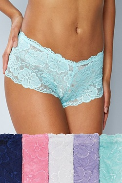 Pack Of 5 Lace French Knickers