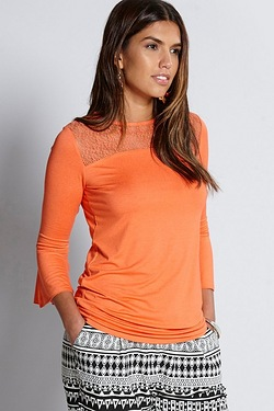 Be You Lace Front Tulip Sleeve Top