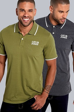 Jack and Jones Pack of 2 Polos