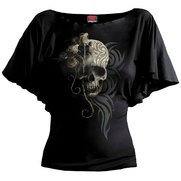 Dark Angel Boat Neck Bat Sleeve Top