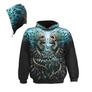 Flaming Spine Allover Hoody