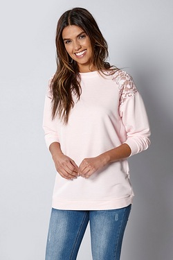 Be You Lace Raglan Sweater