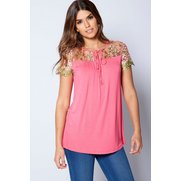 Be You Embroidered Cap Sleeve Jerse...