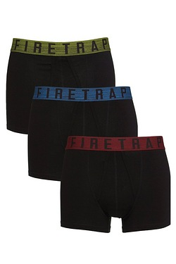 Firetrap Pack of 3 Colour Band Boxers