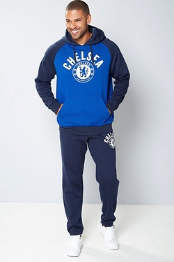 Mens Football Fleece Hoody - Chelsea