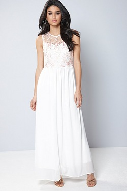 Club L Embroidery Detail Maxi Dress