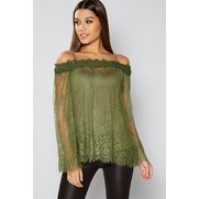 Club L Bardot Lace Tunic