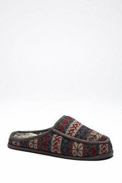 Dunlop Fairisle Slip-on Mule