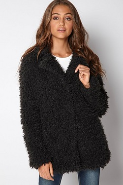 Brave Soul Teddy Bear Faux Fur Coat