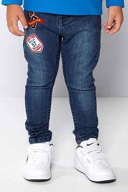 Younger Boys Skinny Jeans Blue Denim