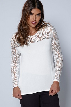Be You Lace Yoke Top