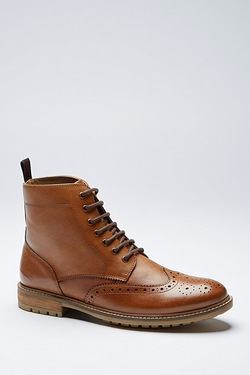 Twisted Gorilla Leather Brogue Boots