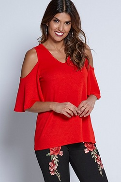Be You Split Shoulder Occasion Top