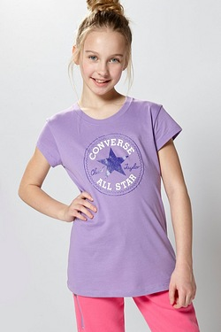 Girls Converse Chuck Patch T-Shirt ...