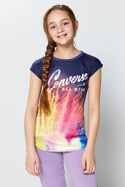 Girls Converse Drop Shoulder T-Shirt