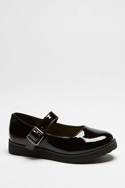 Girl's Patent Buckle Shoe Black