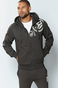 Crosshatch Zip Through Hoody