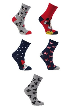 Pack Of 5 Socks - Minnie Mouse