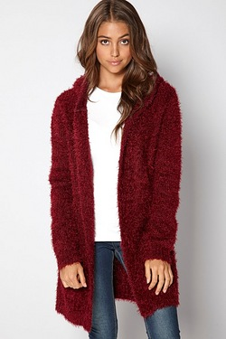 Brave Soul Hooded Knit Cardigan
