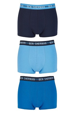 Ben Sherman 3 Pack Colour Band Boxers