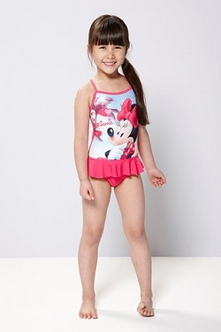 Girls Minnie Mouse Swim Costume