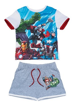 Boy's Avengers T-Shirt & Short Set