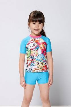 Girls Shopkins UV Swim Suit