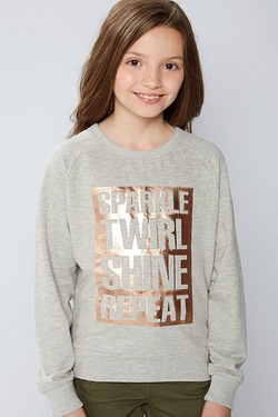 Girls Shine Sweat Top