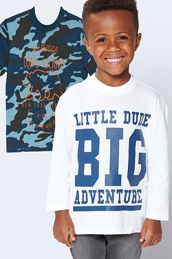 Boys Little Dude Pack Of 2 T-Shirts