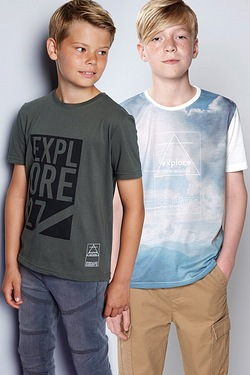 Boys Pack Of 2 Explore T-Shirts