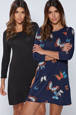 Pack Of 2 Swing Dresses