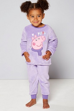 Girls Peppa Fleece Twosie