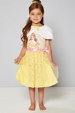Girls Belle Nightie With Fur Shrug