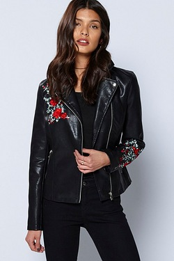 Be You Embroidered Biker Jacket