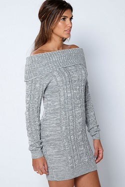 Be You Cowl Neck Cable Tunic