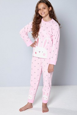 Girls Fleece Rabbit Twosie
