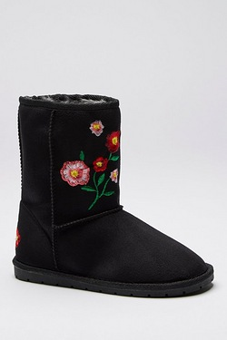 Girls Embroidered Grace Boot
