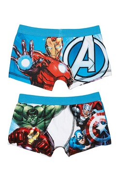Boys Avengers Trunks Blue