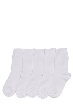 Girl's Pack Of 5 Ankle Socks
