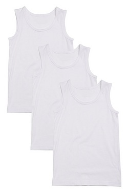 Boys Pack Of 3 Vests