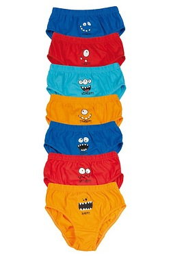 Boys Pack Of 7 Briefs - Monster
